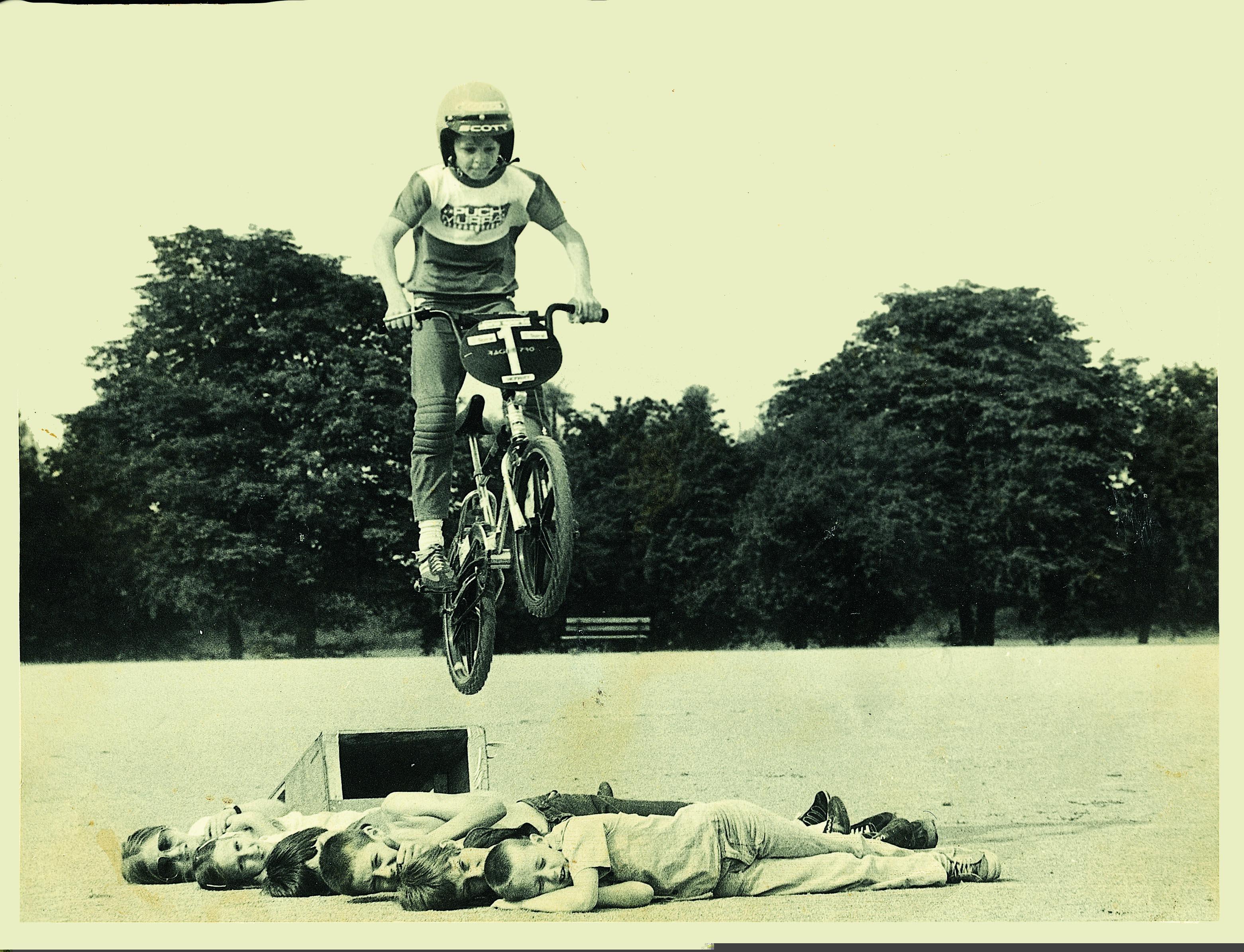 Tom Lynch 1st BMX pic 1981.
